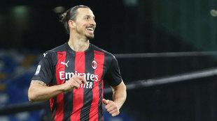 Zlatan Ibrahimovic con el Milan. EFE