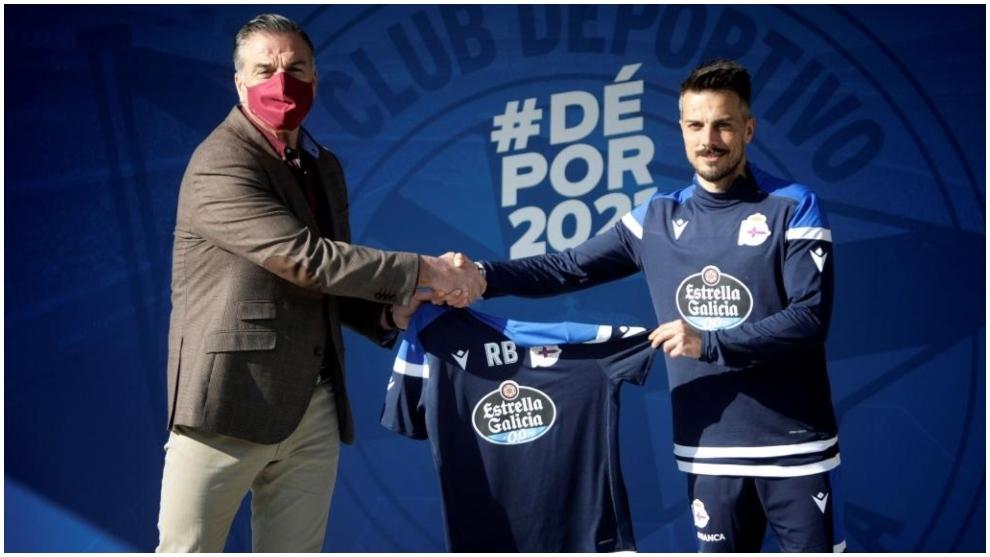 Vidal y De la Barrera, el día de su presentación como nuevo técnico...