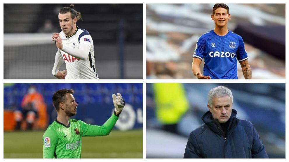 Un montaje fotográfico con Bale, James, Neto y Mourinho.