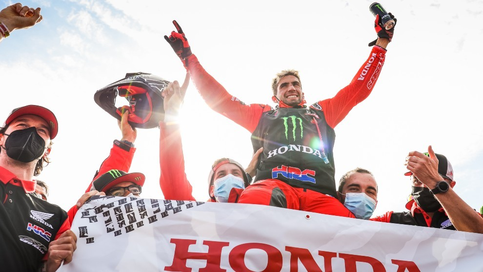 Kevin Benavides, ganador del Dakar 2021 en motos.