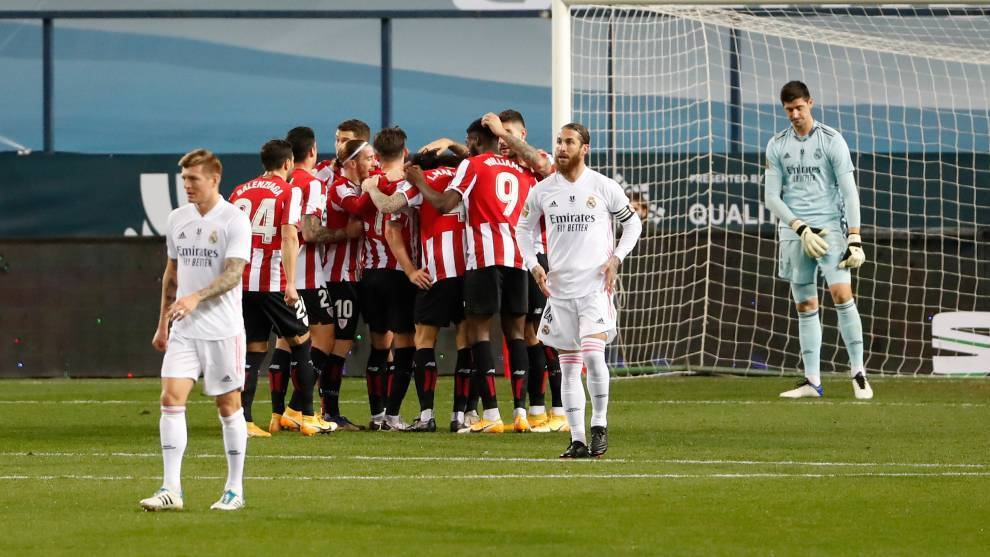 Courtois complains about referees again: There was an offside before Athletic's second goal
