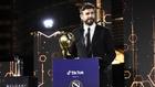 Gerard Piqué, galardonado con el 'Premio a la Carrera' otorgado por...