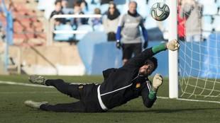Cristian Álvarez, en un entrenamiento.