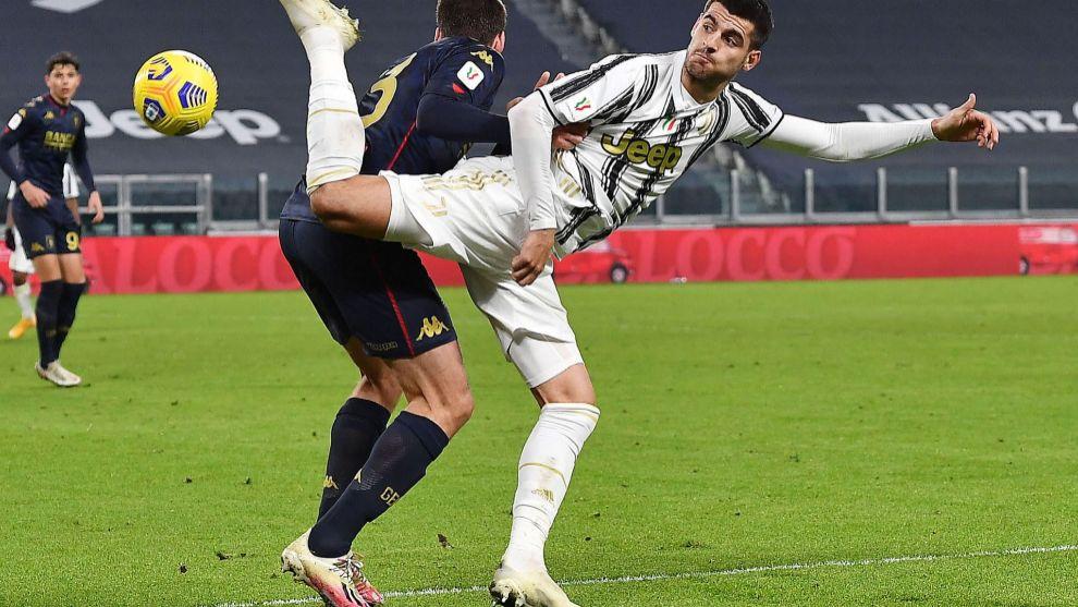 Morata with Juventus.
