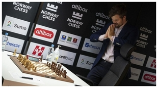 Magnus Carlsen durante el Altibox Norway Chess.