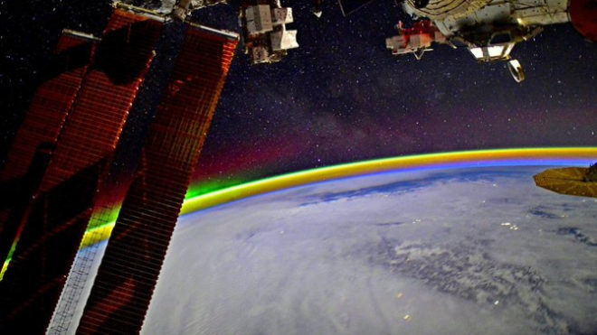 The stunning rainbow captured from outer space