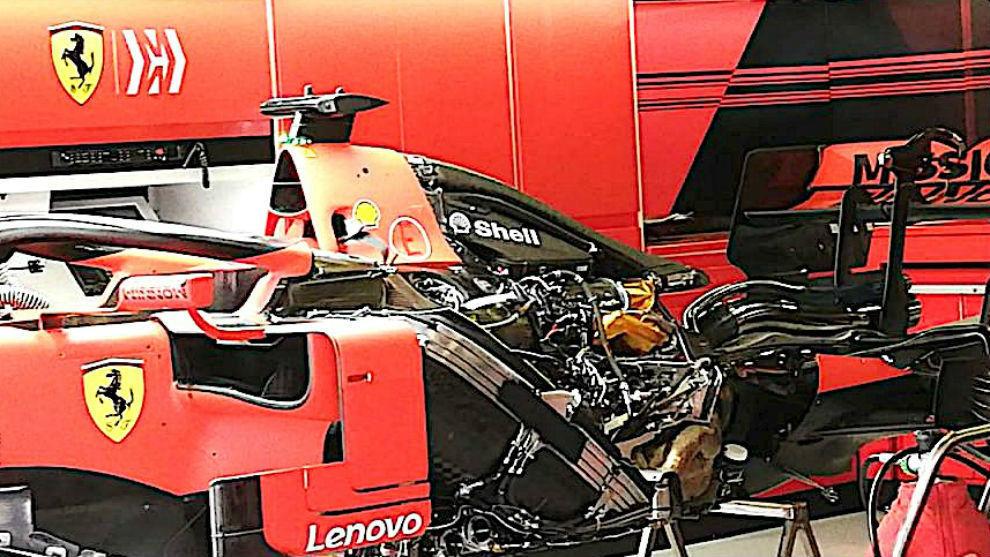 Motor del Ferrari SF1000 de 2020.