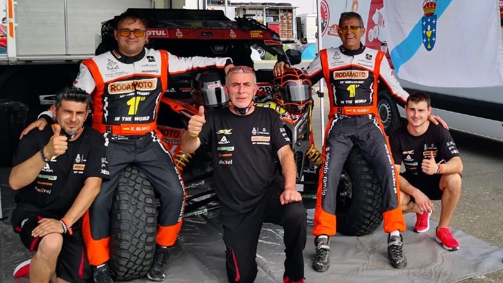 Ramilo, Blanco y el resto del equipo Buggy Masters Team