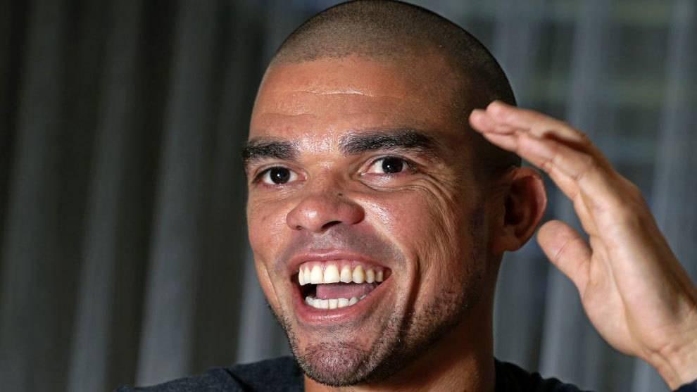 Pepe, durante una entrevista