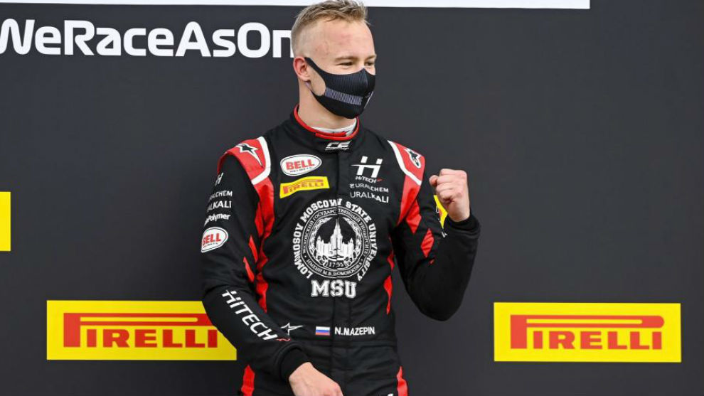 Mazepin, en uno de su podios en F2.