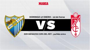 Malaga - Granada: horario y donde ver por TV y online hoy el partido...
