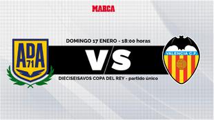 Alcorcon - Valencia: horario y donde ver en TV y online hoy el partido...