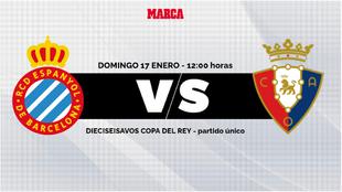 Espanyol - Osasuna: horario y donde ver por TV y online hoy el partido...