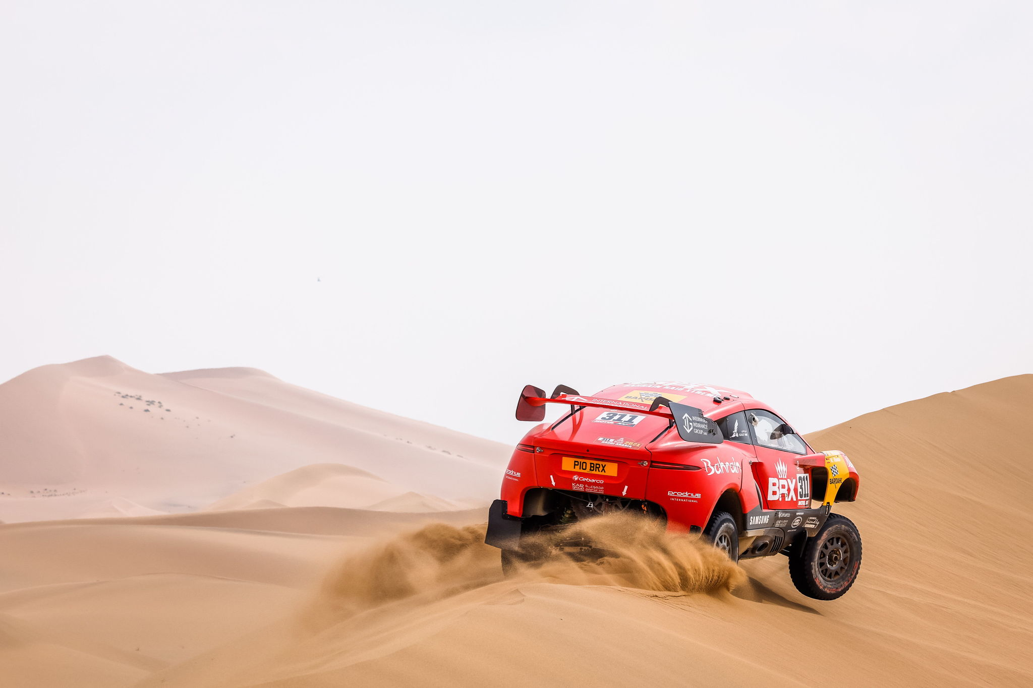 (Saudi Arabia), 14/01/2021.- A handout photo made available by ASO of Nani lt;HIT gt;Roma lt;/HIT gt; of Spain and Alexandre Winocq of France, Hunter, Bahrain Raid Xtreme, in action during the 11th stage of the Dakar 2021 between Al-Ula and Yanbu, in Saudi Arabia, 14 January 2021. (Bahrein, Francia, Arabia Saudita, España) EFE/EPA/Frederic Le Floch HANDOUT via ASO SHUTTERSTOCK OUT HANDOUT EDITORIAL USE ONLY/NO SALES/NO ARCHIVES