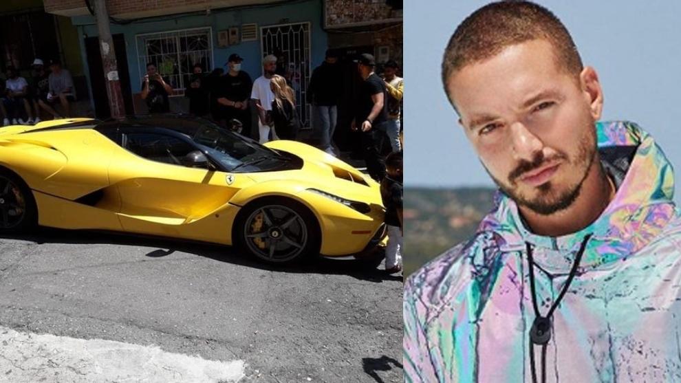 J Balvin returns to home neighbourhood in a Ferrari
