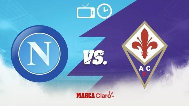 Napoli vs Fiorentina: Horario y dónde ver.