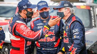 Al-Attiyah, Peterhansel and Sainz