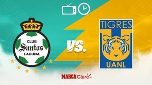 Santos vs Tigres, horario y dónde ver.