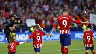 Torres, el día de su despedida.