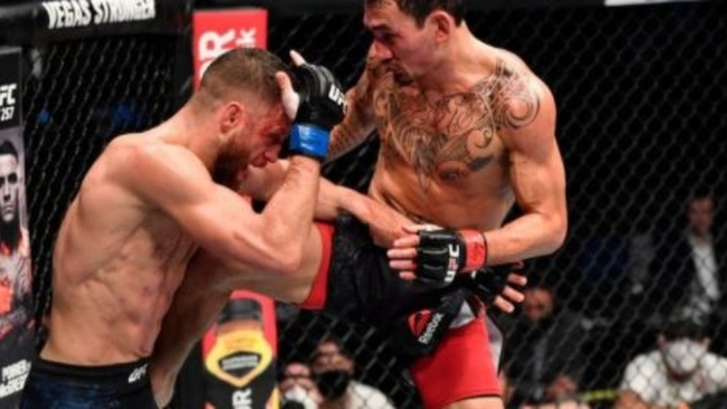 Max Holloway destroys Calvin Kattar in first UFC event of 2021