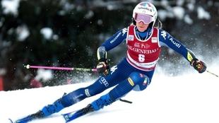 La esquiadora italiana Marta Bassino en Kranjska Gora.