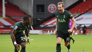 Harry Kane anotó el segundo gol de los Spurs ante el Sheffield. |