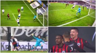 Luka Jovic marca su primer gol