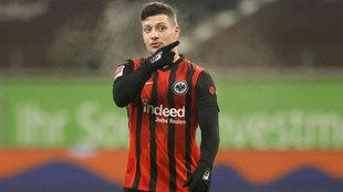 Jovic, el día de su debut con el Eintracht