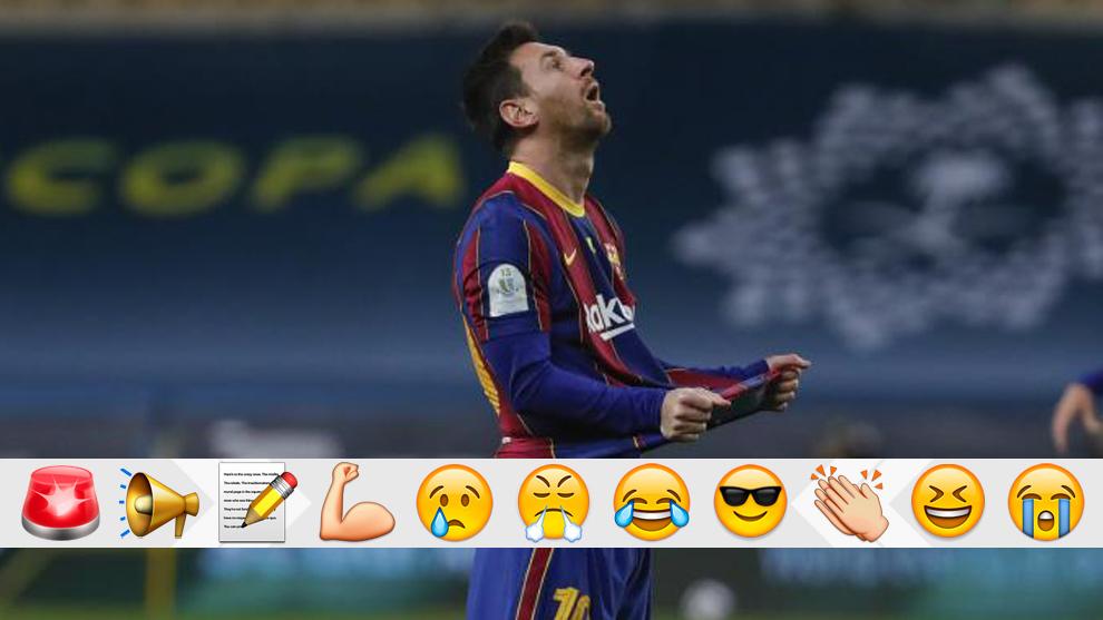 Messi desesperado contra el Athletic.