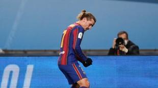 Griezmann celebra un gol contra el Athletic