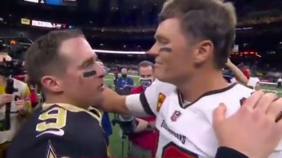 Drew Brees felicita a Tom Brady tras la victoria de los Buccaneers
