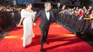 Andreu Buenafuente y Silvia Abril, los presentadores de la ceremonia...