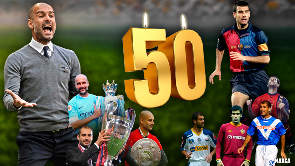Pep Guardiola cumple 50 años.
