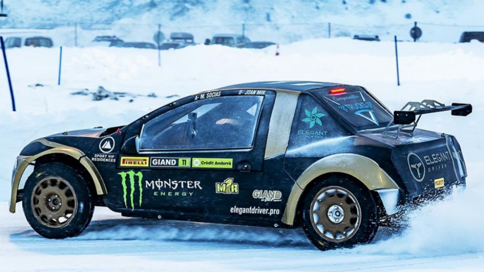 Mir, pilotando el prototipo con el que ha corrido en Andorra.