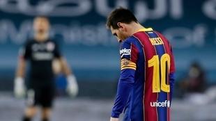 Supercopa de España: Leo Messi, expulsado vs Athletic Club.
