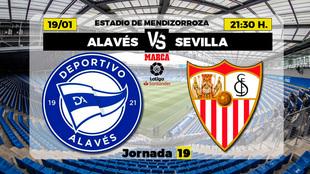 Alaves - Sevilla Partido Primera Division hoy