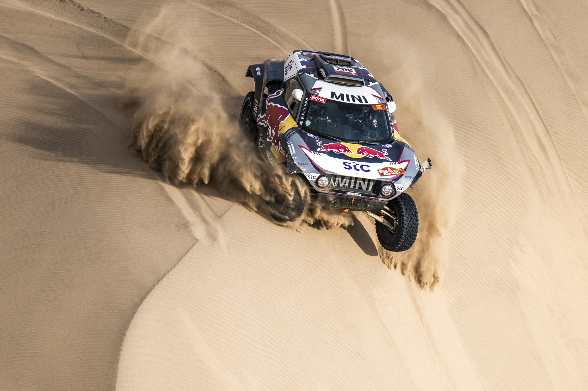 302 lt;HIT gt;Peterhansel lt;/HIT gt; Stephane (fra), Boulanger Edouard (fra), Mini, X-Raid Mini JCQ Team, Auto, action during the 11th stage of the Dakar 2021 between Al-'Ula and Yanbu, in Saudi Arabia on January 14, 2021 - Photo Charly Lopez / A.S.O