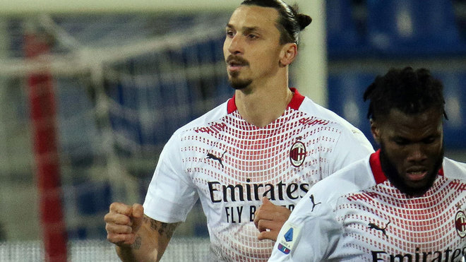 Ibrahimovic scores twice as Milan eases past Cagliari