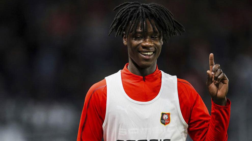 Camavinga, con el Rennes esta temporada.