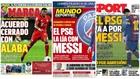 Las portadas: Alaba, Messi y el PSG...