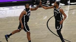 Harden y Durant Brooklyn Nets victoria sobre Bucks