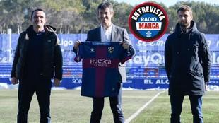 Pacheta, presentado como nuevo entrenador del Huesca.