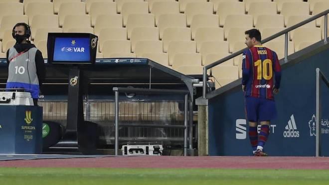Sancion a Messi expulsion Final Supercopa España