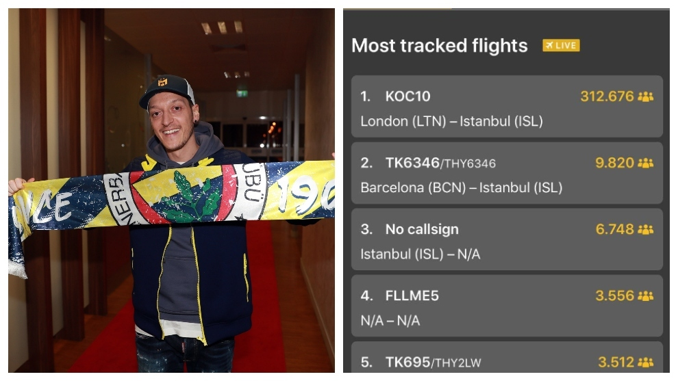Ozilmania at Fenerbahce: The most followed flight of all time