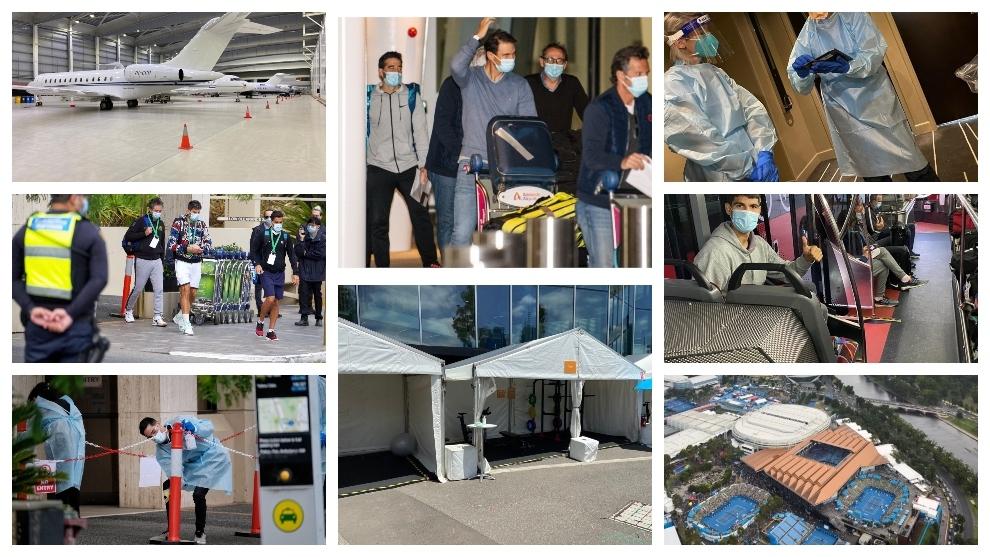 Imágenes de la cronología de los hechos en Melbourne