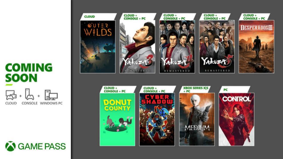 Juegos gratis Xbox Game Pass de enero