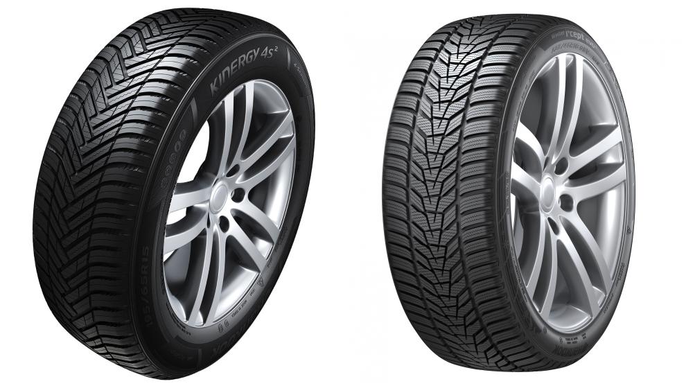 Los neumáticos all season Kinergy 4S 2 de Hankook y los de invierno Winter i*cept evo 3.