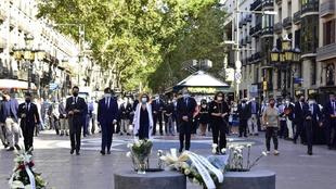 Homenaje a las víctimas del atentado en Las Ramblas