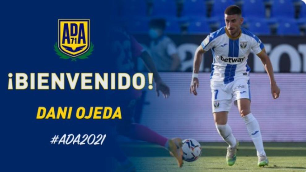 Oficial: Dani Ojeda jugará esta temporada en el Alcorcón y la próxima, en Las Palmas