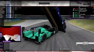 Fernando Alonso, en el momento de la colisión